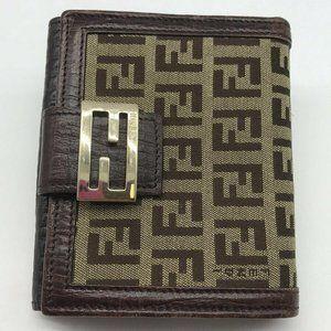 Fendi Brown Zucca Print Wallet